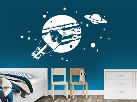 Wandtattoo Kinderzimmer Planeten by Wandtattoo Planeten Im Weltraum Wandtattoo De