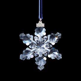 swarovski 2008 crystal christmas ornament large snowflake