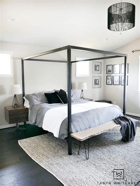 master bedroom bedding master bedroom update steel canopy bed and bedding