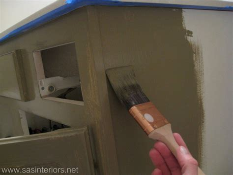 painting over stained cabinets how to glaze a cabinet using stain jenna burger