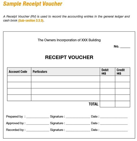 Voucher Template 9 Free Sle Receipt Voucher Templates Printable Sles