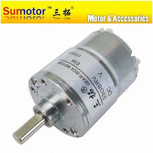 33GBRV DC 12V OD 37mm small Electric Reduction Metal Gear ...