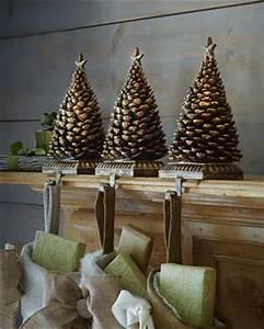 Pine Cone Tree Christmas Stocking Hook Traditional