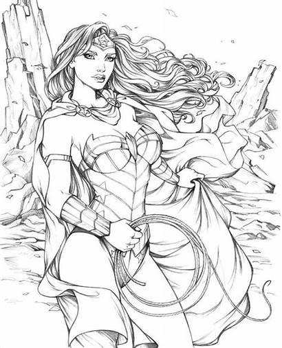 Dc Hero Coloring Superhero Wonder Woman Heros