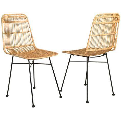 chaise rotin pas cher chaise salle a manger rotin pas cher idées de décoration