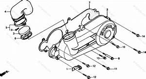 Honda Scooter 1985 Oem Parts Diagram For Left Side Cover