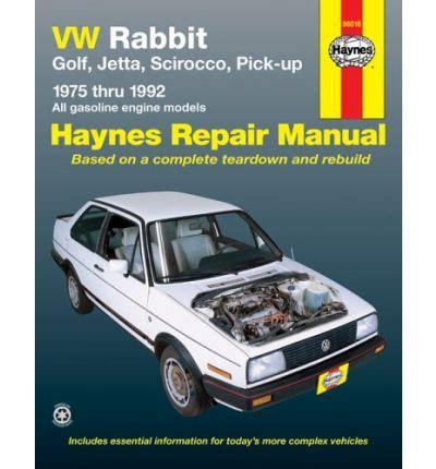 car service manuals pdf 1992 volkswagen golf on board diagnostic system vw rabbit golf jetta scirocco pick up 1975 1992 automotive repair manual sagin workshop