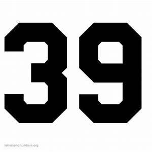 Printable Varsity Numbers 1 to 50