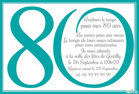 modele de lettre anniversaire 80 ans modele invitation 80 ans anniversaire document