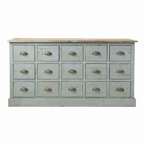Meuble à Tiroir : comptoir multi tiroirs meuble de m tier en bois recycl ~ Edinachiropracticcenter.com Idées de Décoration