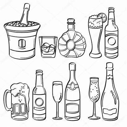 Alcohol Bottles Bottiglie Alcool Alkohol Flessen Coloring