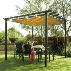 7 Piece Patio Dining Set by Retractable Aluminium Garden Patio Pergola And Canopy