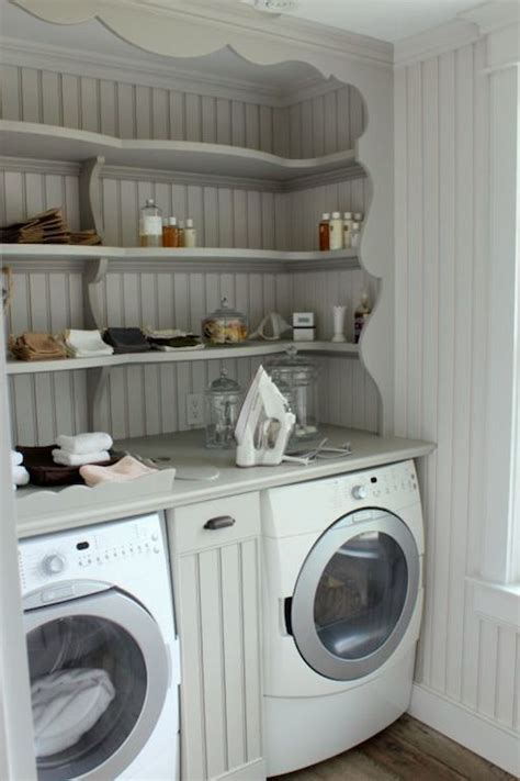 Laundry Room Shelving  Cottage  Laundry Room  Talk Of