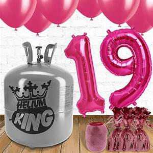 19th Birthday Pink Balloons and Helium Package | Partyrama ...