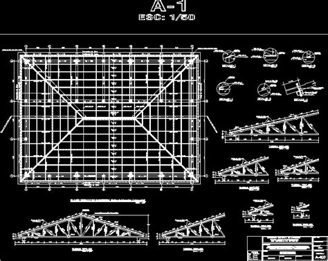 metal roof structure dwg detail  autocad designs cad