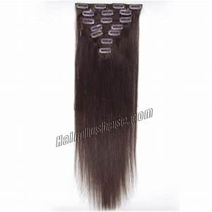 30 Inch 2 Dark Brown Clip In Human Hair Extensions 8pcs