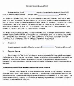 profit sharing agreement 9 free samples examples format With tax sharing agreement template
