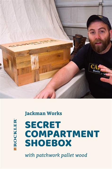 video secret compartment shoebox  patchwork pallet wood   secret compartment wood
