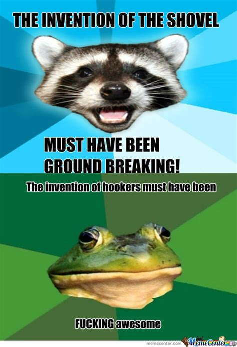 Bad Pun Raccoon Meme - memestache lame pun coon image memes at relatably com