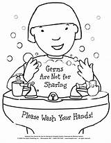 Hands Coloring Signs Wash Washing Raise Care Health Awareness sketch template