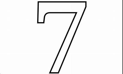 Number Printable Coloring Pages Numbers Seven Printables