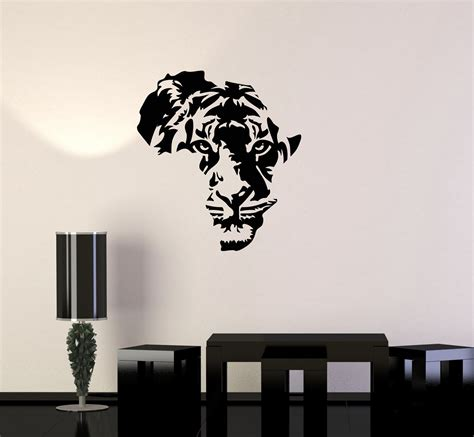 Africa map of africa wall art decor vintage original gift idea gift for him travel gift wedding gift lithograph print old this is a vintage africa map taken from a 1940s atlas. Vinyl Decal Tiger Animal Africa Map Kids Room Wall ...