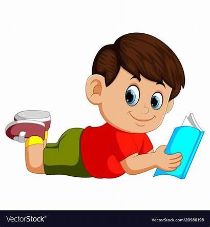 Story Books Reading Boy Vectorstock Boys