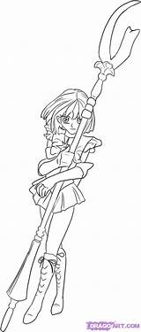 Saturn Coloring Sailor Drawing Moon Pages Popular Library Clipart Coloringhome sketch template