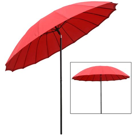 bright red l shade 2 5m tilting garden furniture parasol sun shade protection