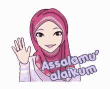 Gambar Assalamualaikum Lucu Bergerak Muslimah Sarjana