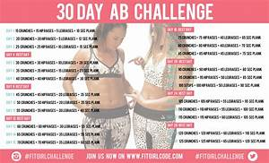 30 DAY AB CHALLENGE - Fitgirlcode - Community for fit and ...
