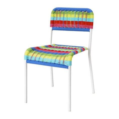 chaise scoubidou färgglad children 39 s chair ikea