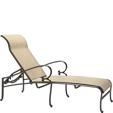 tropitone chaise lounge chairs tropitone 450432 radiance sling chaise lounge discount
