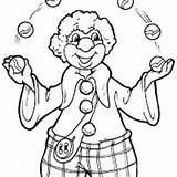 Juggler Coloring Clown Pages sketch template