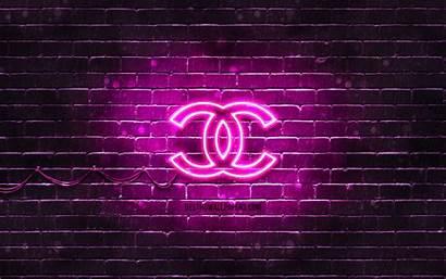 Chanel Purple Brands 4k Neon Desktop Wallpapers