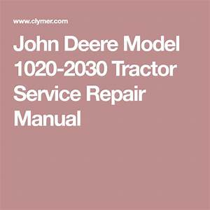 Pin On Jd 2020 Shop Manual
