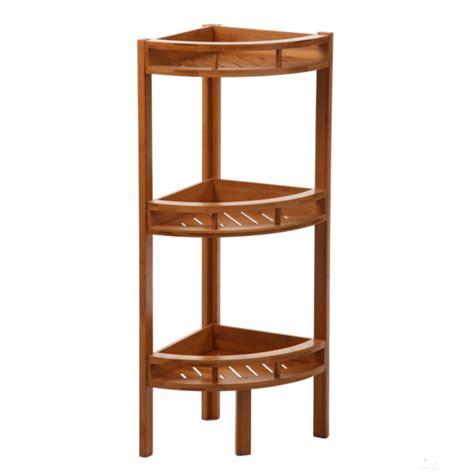 table cuisine en pin etagere d angle bambou