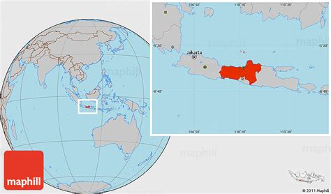 gray location map  central java