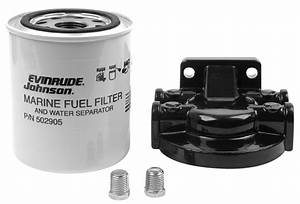 Oem Evinrude Johnson Brp Fuel Filter  Water Separator Kit  25 Micron