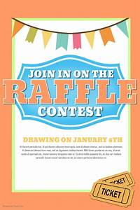 raffle ticket signs raffle flyer contest social media post template