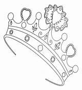 Coloring Princess Crown Fancy Crowns Colors Doodles sketch template