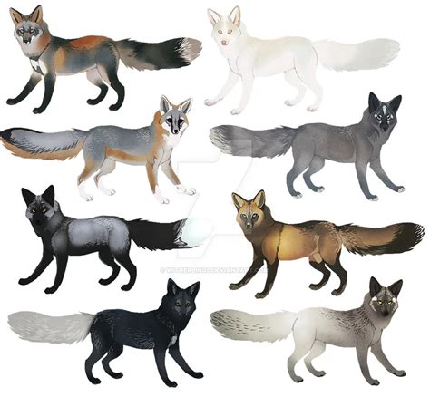 fox colors fox colors ii by witherlings on deviantart