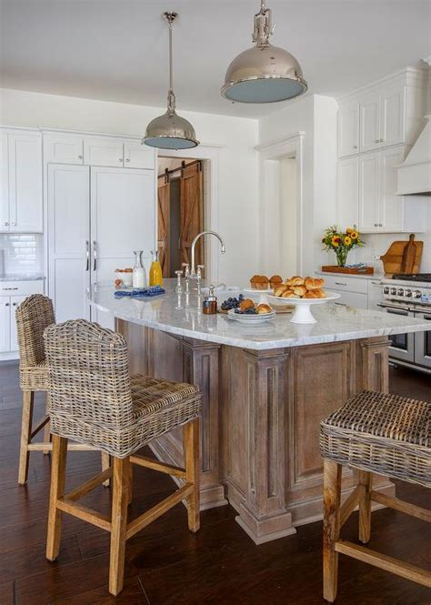 curved kitchen island countertop  wicker counter