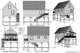 cottage blueprints 216 aspen cabin plans converted to to raised flood plain cabin plans blueprints construction