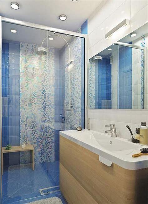 large blue bathroom tiles ideas  pictures