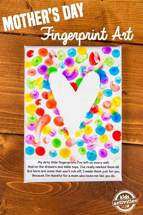 mothers day fingerprint art kids activities ad easy