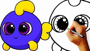 Easy! How to Draw Cute Cartoon Fish. Step by Step Art for ...