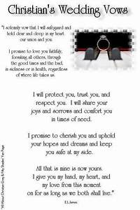 Christian39s wedding vows wedding bliss pinterest for Wedding ring vows christian