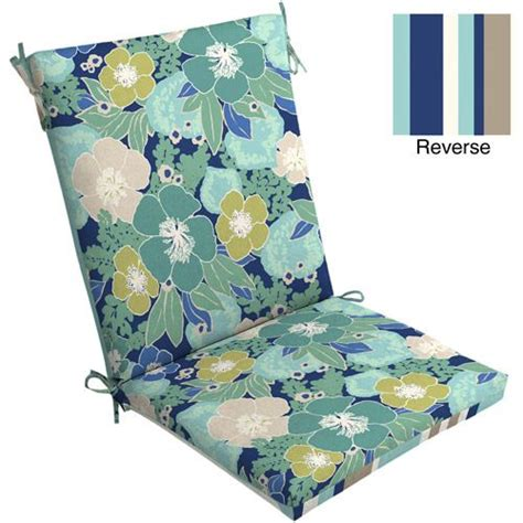 mainstays outdoor chair cushion blue floral outdoor