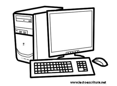 Dibujos de computadoras para imprimir y pintar Colorear